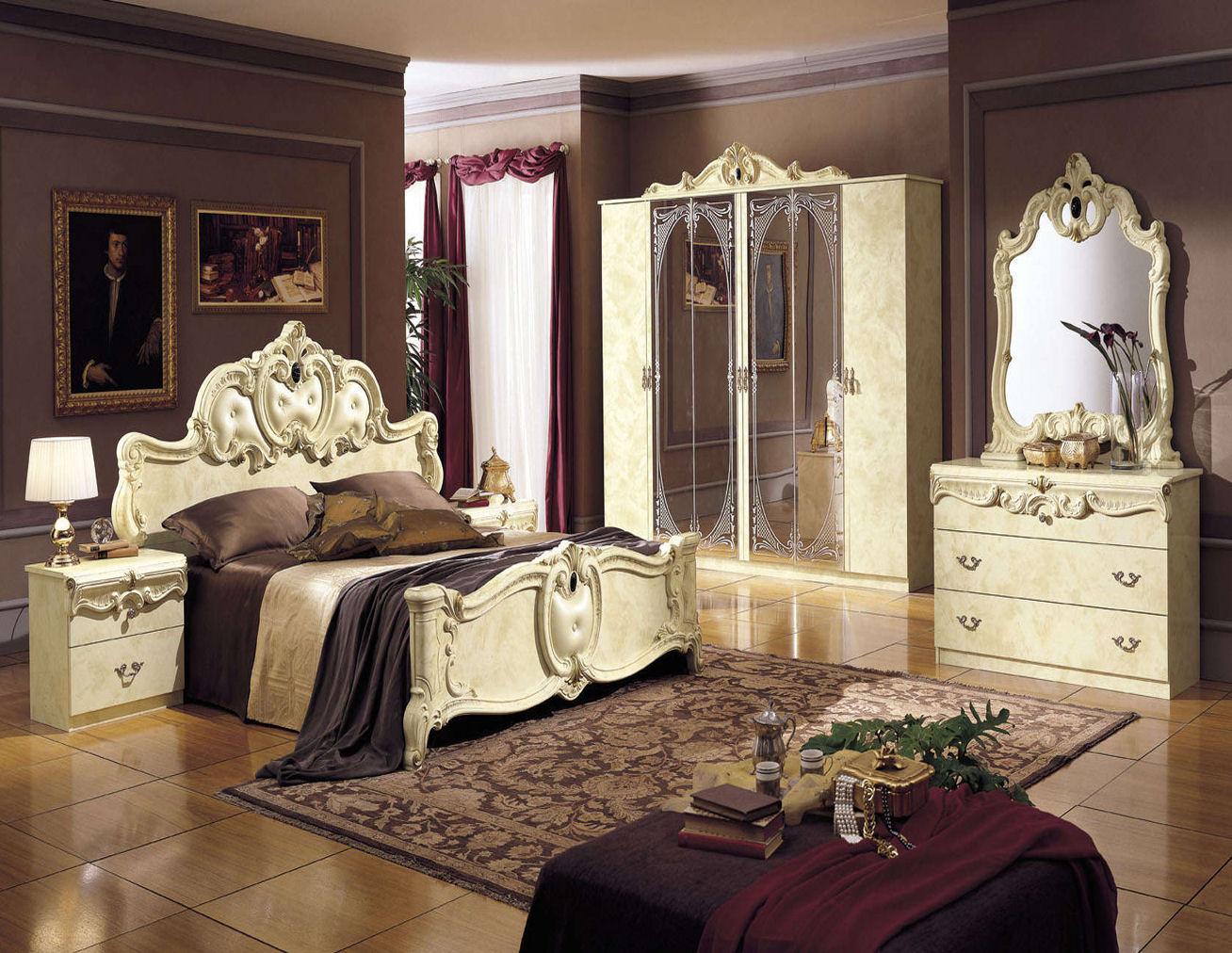 роскошная спальня в стиле рококо