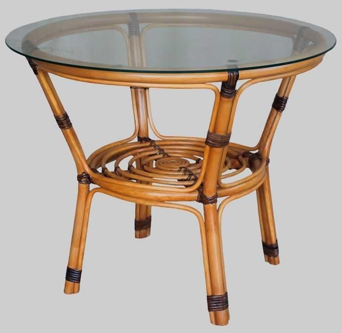 прикроватный столик из ротанга