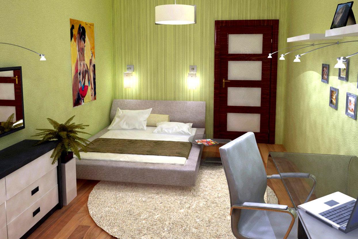 светильники в маленькой комнате фисташкового цвета