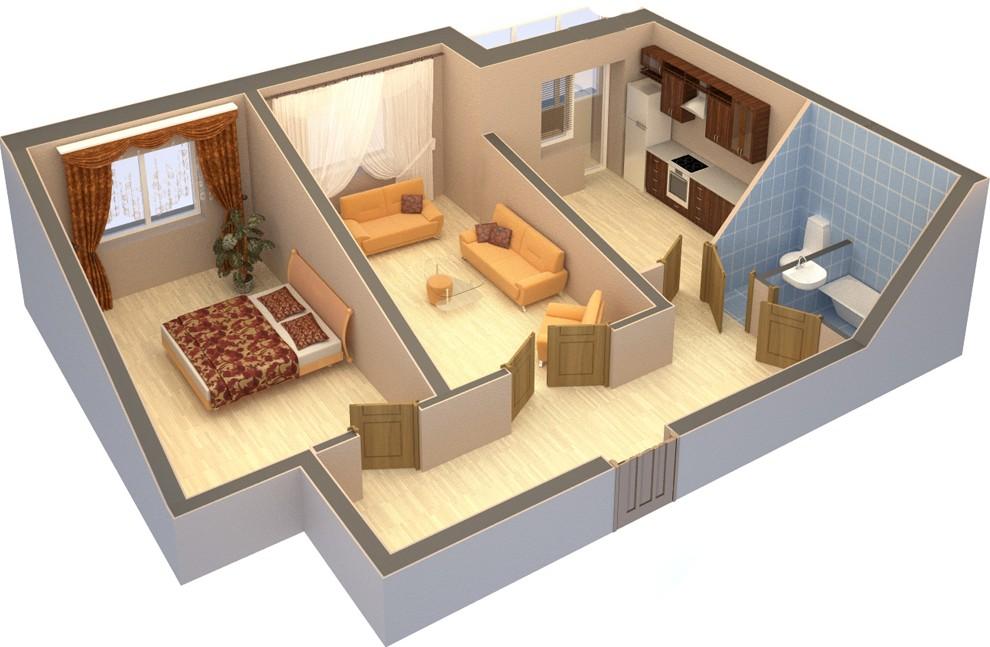 вариантов планировки трёхкомнатной квартиры –