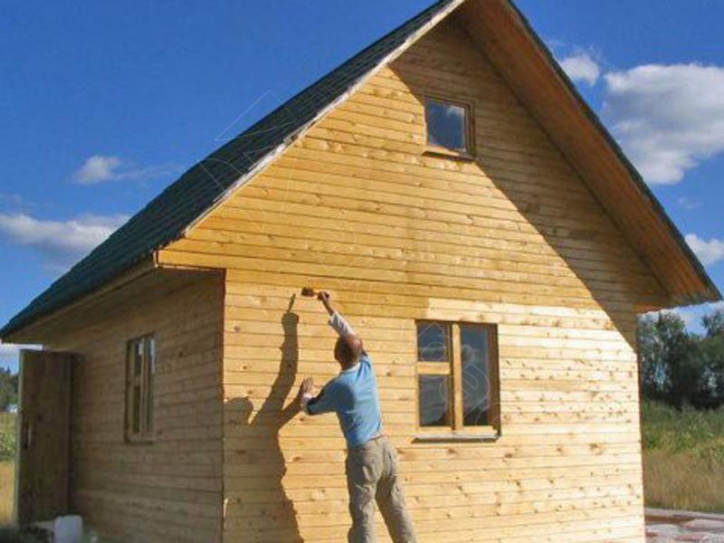 Строим деревянный дачный домик