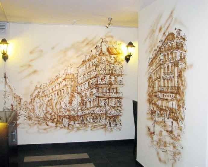 Что следует знать при декоративной росписи стен?