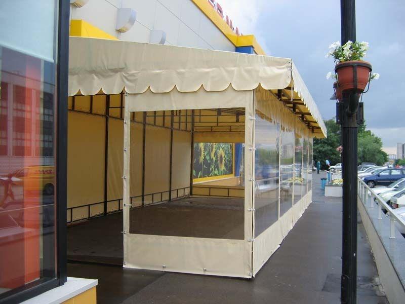 Тенты из ПВХ для летнего кафе