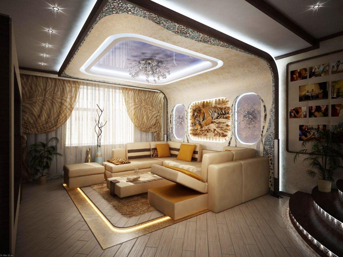 Фантастический дизайн гостиной