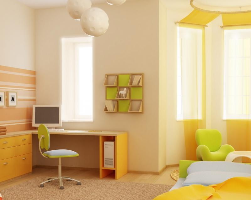 Краска для интерьера детской комнаты