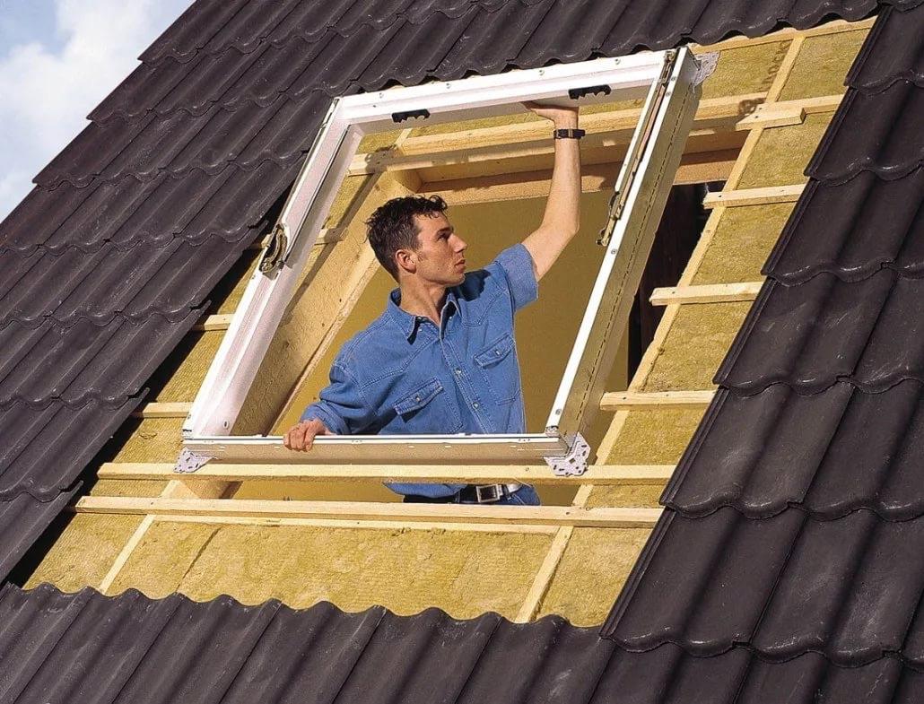 Мансардные окна технология установки своими руками