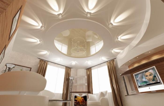 Как современно оформить потолок