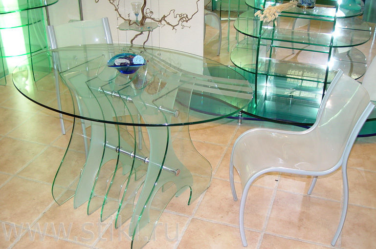 Классификация столов из стекла по назначению