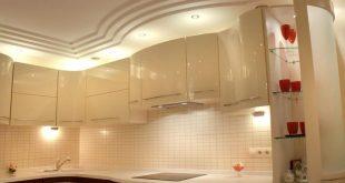 Варианты потолков на кухне