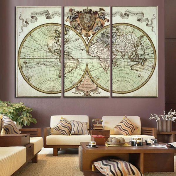 Декор гостиной: художественная карта