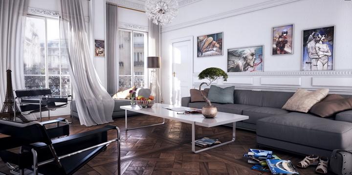 Модный штрих гостиной американские диваны
