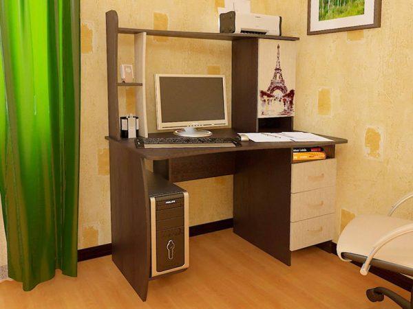 Компьютерный стол в интерьере