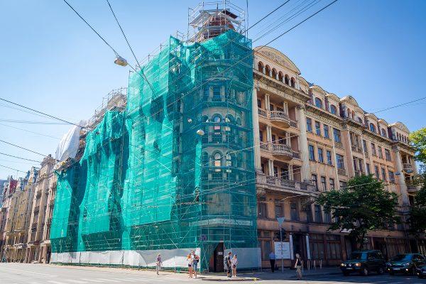 Tetera nams (Stūra māja) pirms restaurācijas darbu uzsākšanas 2015. gadā.