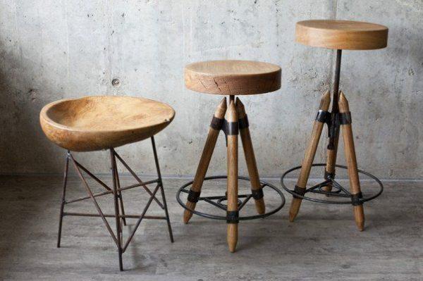 Барные-стулья-в-стиле-лофт